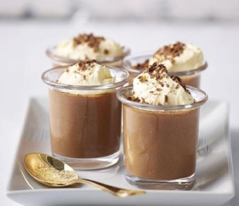 Mousse de café con chocolate
